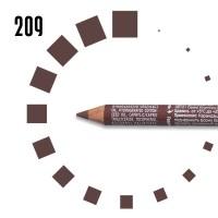 """Карандаш для БРОВЕЙ """"РЕСНИЧКА"""", №209, светлый, серо-коричневый"""